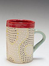 Ripple Mug by Vaughan Nelson (Ceramic Mug)