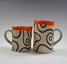 Blackline Mug by Vaughan Nelson (Ceramic Mug)