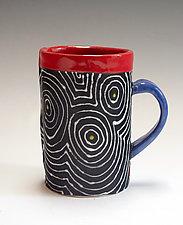 Black Optix Mug by Vaughan Nelson (Ceramic Mug)