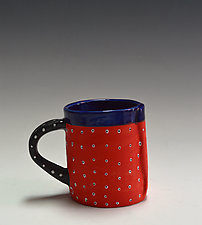 Velvet Red Mug by Vaughan Nelson (Ceramic Mug)
