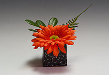 White Squiggle Ikebana by Vaughan Nelson (Ceramic Vase)