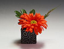 Black Optix Ikebana by Vaughan Nelson (Ceramic Vase)
