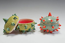 Urchin Containers by Vaughan Nelson (Ceramic Box)