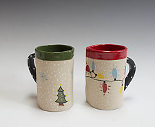 Holiday Mugs II by Vaughan Nelson (Ceramic Mug)