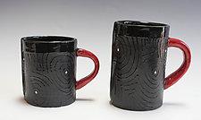 Blackout Mug by Vaughan Nelson (Ceramic Mug)