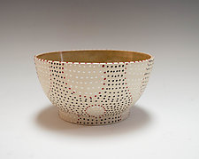 Thrown Ripple Bowl by Vaughan Nelson (Ceramic Bowl)