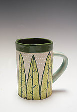 Leaf Mug by Vaughan Nelson (Ceramic Mug)