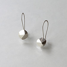 Faceted Earrings by Kendra Renee (Silver Earrings)