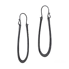 Arch Earrings in Oxidized Silver by Kendra Renee (Silver Earrings)