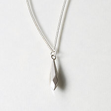 Faceted Drop Necklace by Kendra Renee (Silver Necklace)
