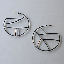 Gold Shape Hoops by Kendra Renee (Gold & Silver Earrings)