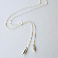Crystal Lariat Necklace by Kendra Renee (Silver Necklace)
