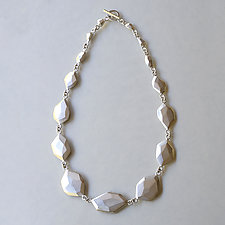 Faceted Statement Necklace by Kendra Renee (Silver Necklace)