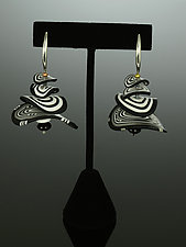 Petals Earrings in Black White Mix by Arden Bardol (Polymer Clay Earrings)