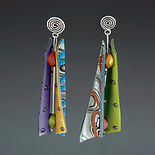 Razor Shell Pattern Mix Earrings by Arden Bardol (Polymer Clay Earrings)