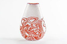 Octopus Vase by Jennifer Caldwell and Jason Chakravarty (Art Glass Vase)