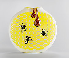 Bees by Jennifer Umphress Studios (Art Glass Vessel)