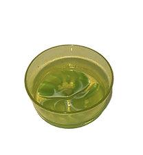 Yellow Aqua Bowl by Jennifer Caldwell (Art Glass Bowl)