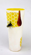 Honeycone by Jennifer Caldwell (Art Glass Vase)