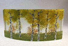 Aspen Woodlands I by Amanda Taylor (Art Glass Sculpture)