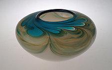 Oceana Orchid Vase by Jennifer Nauck (Art Glass Vase)