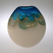 Oceana Pocket Vase by Jennifer Nauck (Art Glass Vase)