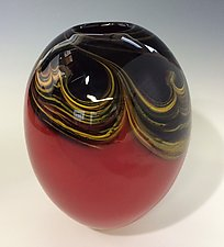 Mars Seed Vase by Jennifer Nauck (Art Glass Vase)