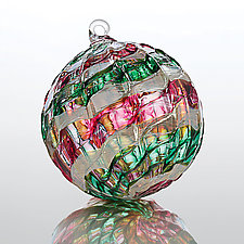 Merry Little Christmas by Christian Turiello (Art Glass Ornament)