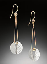 Flutterby Earrings by Carolyn Zakarija (Gold & Silver Earrings)