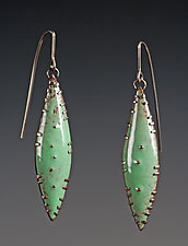 Leaf Earrings by Beth Novak (Enameled Earrings)