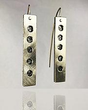 Texture Windows Earrings by Beth Novak (Silver Earrings)