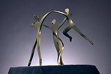 Dancing Family with a Boy by Boris Kramer (Metal Sculpture)
