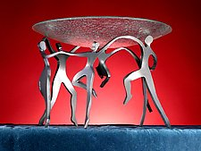 Dancing Group with Bowl by Boris Kramer (Metal Sculpture)