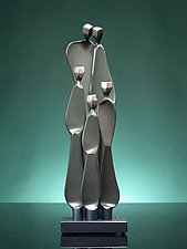 Family with Three Children by Boris Kramer (Metal Sculpture)