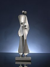 Family with Two Children by Boris Kramer (Metal Sculpture)