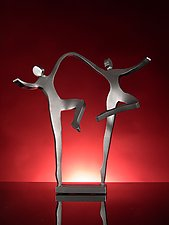 Joyous Dancers by Boris Kramer (Metal Sculpture)
