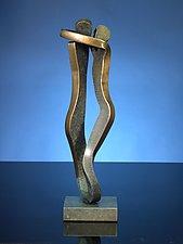 Embrace in Brass by Boris Kramer (Brass Sculpture)