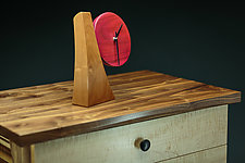 Adjustable Desk Clock III by Todd  Bradlee (Wood Clock)