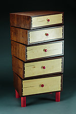 Stacked-Box Dresser II by Todd  Bradlee (Wood Dresser)