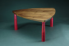 Triangle Coffee Table by Todd  Bradlee (Wood Coffee Table)