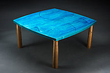 Blue Coffee Table by Todd  Bradlee (Wood Coffee Table)