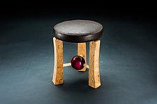 Low Sphere Stool by Todd  Bradlee (Wood Stool)