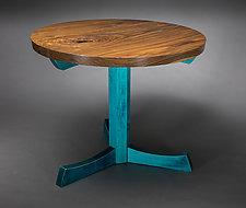 Pedestal Table by Todd  Bradlee (Wood Pedestal Table)