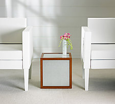 Mystic Cube Table by Ken Reinhard (Wood & Glass Side Table)