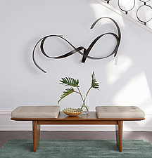Mystic Bench by Ken Reinhard (Wood & Leather Bench)