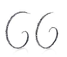 Dot Hoop by Lisa  Cimino (Silver Earrings)