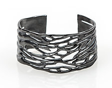 Large Ripple Cuff by Lisa  Cimino (Silver Bracelet)