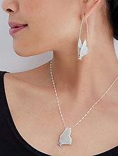 Butterfly Jewelry by Lisa  Cimino (Silver Earrings & Necklace)