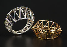 Star Cage Ring by Maria  Eife (Gold or Silver Ring)