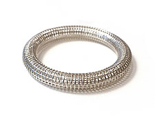 Grid Bangle by Maria  Eife (Silver Bracelet)